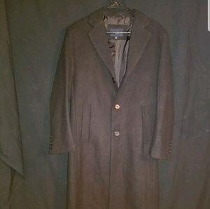 New Braveman Men's Wool-Blend Overcoat Black